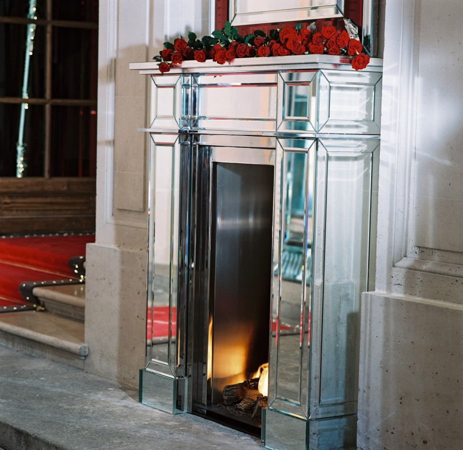 Baccarat fireplaces by Philippe-Starck & Bloch Design