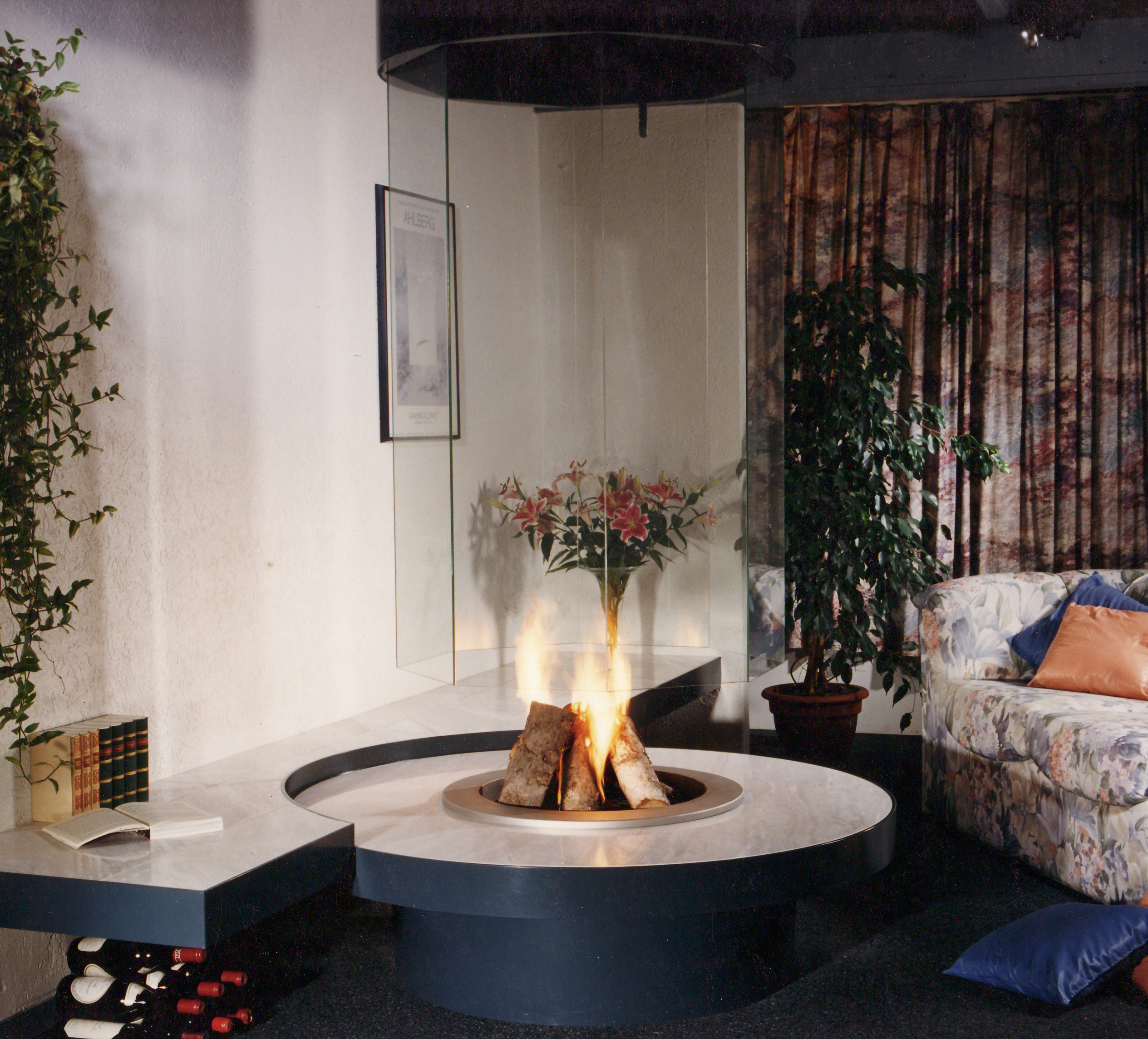 round fireplaces - circular fireplaces