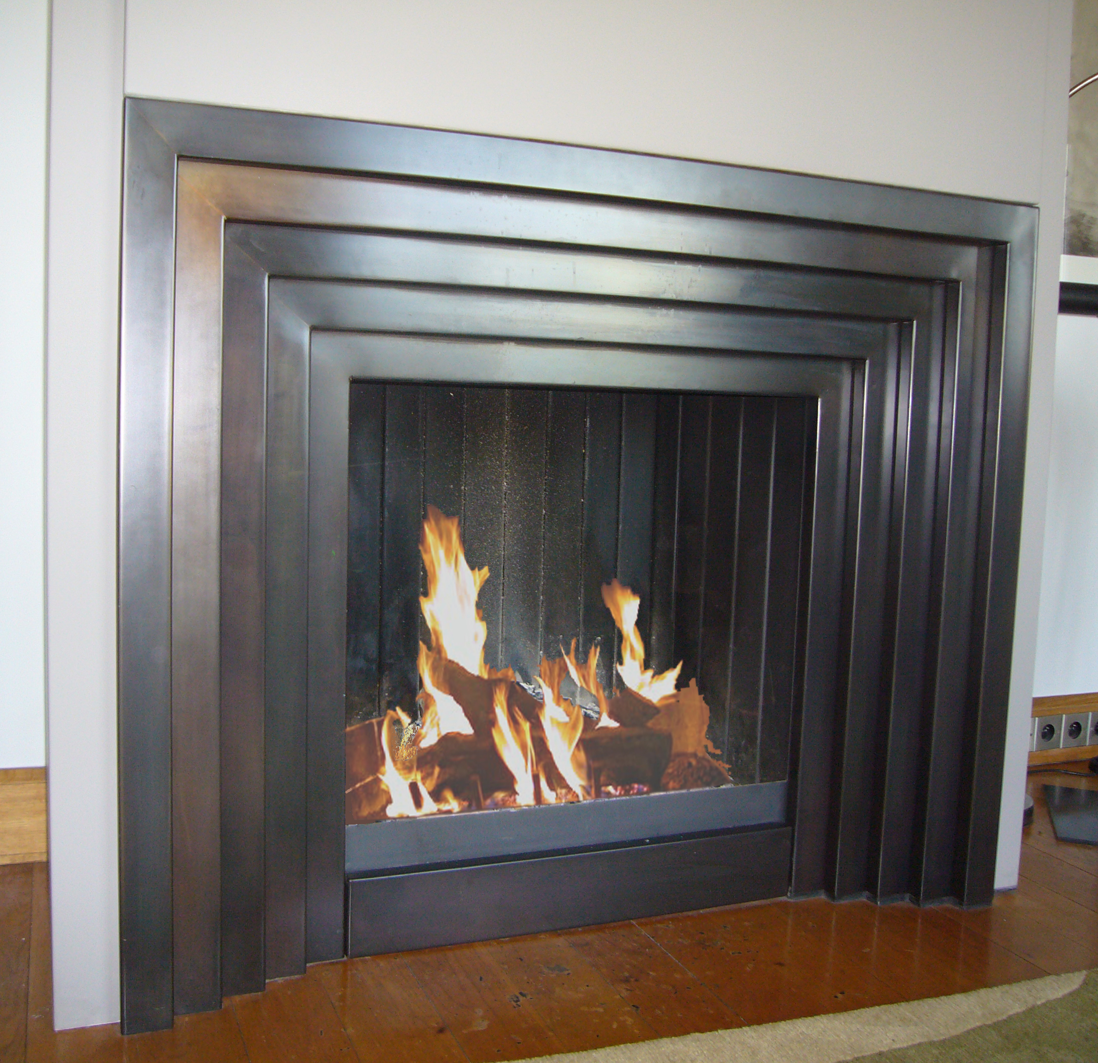 cm027 art deco kamin - Moderne Luxus Kamine