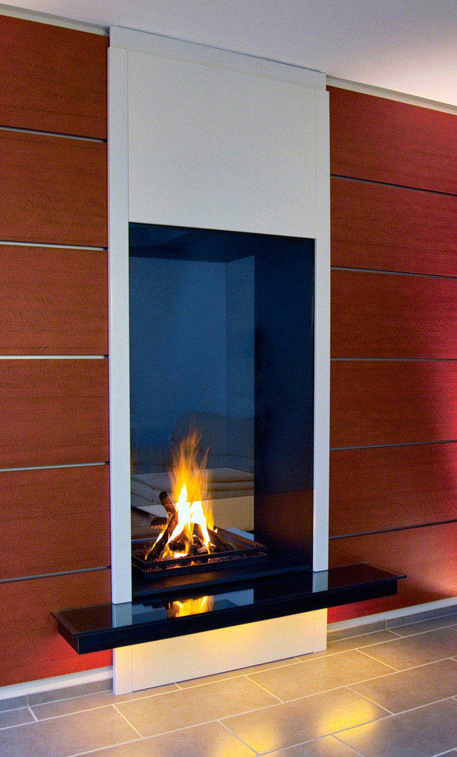 Even More On Double Standards >> double sided fireplaces - see-through fireplaces - tunnel fire