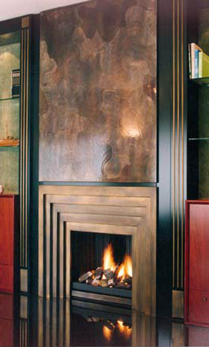 art deco fireplaces - art nouveau fireplaces - fireplaces