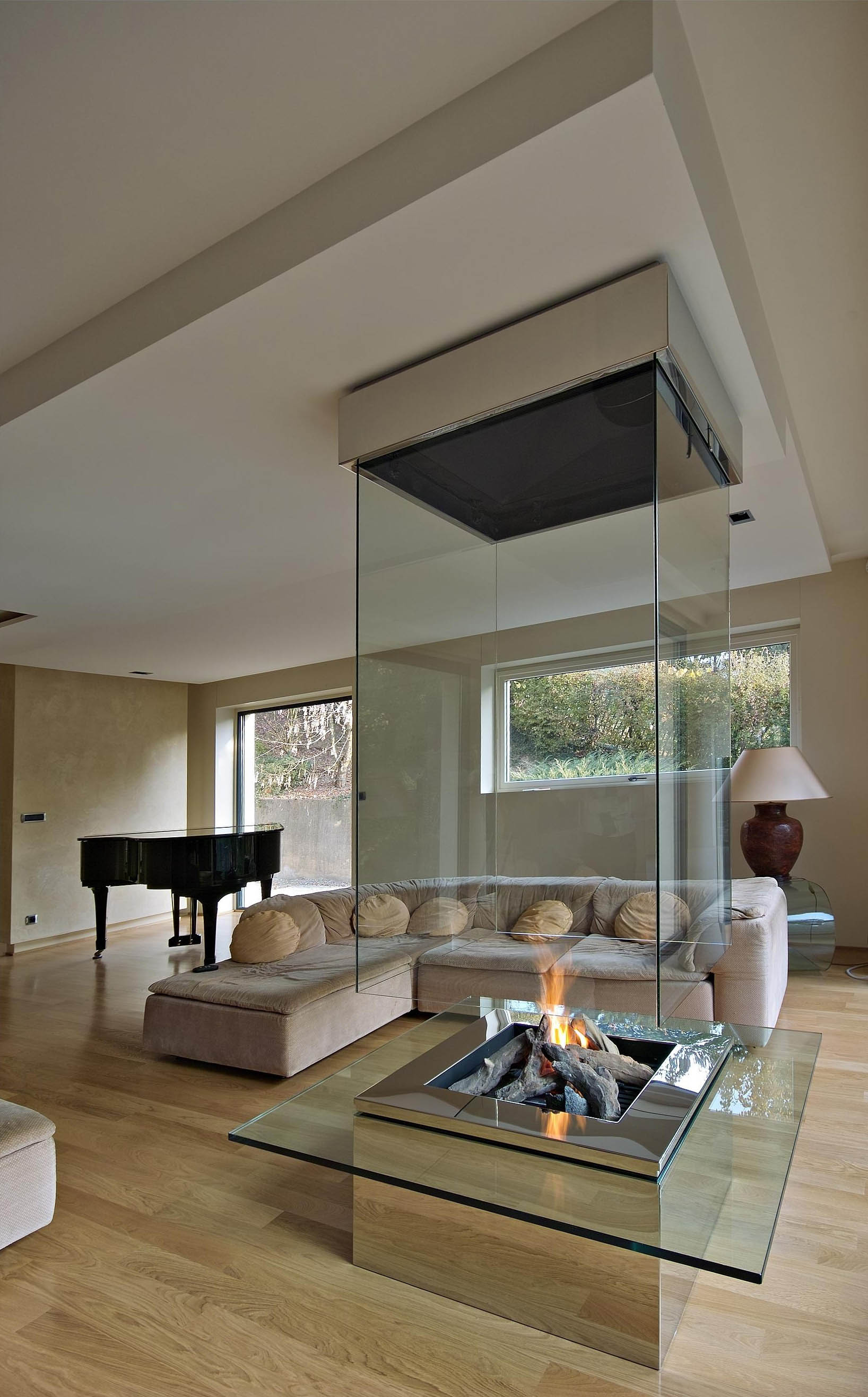 contemporary fireplace - custom fireplace