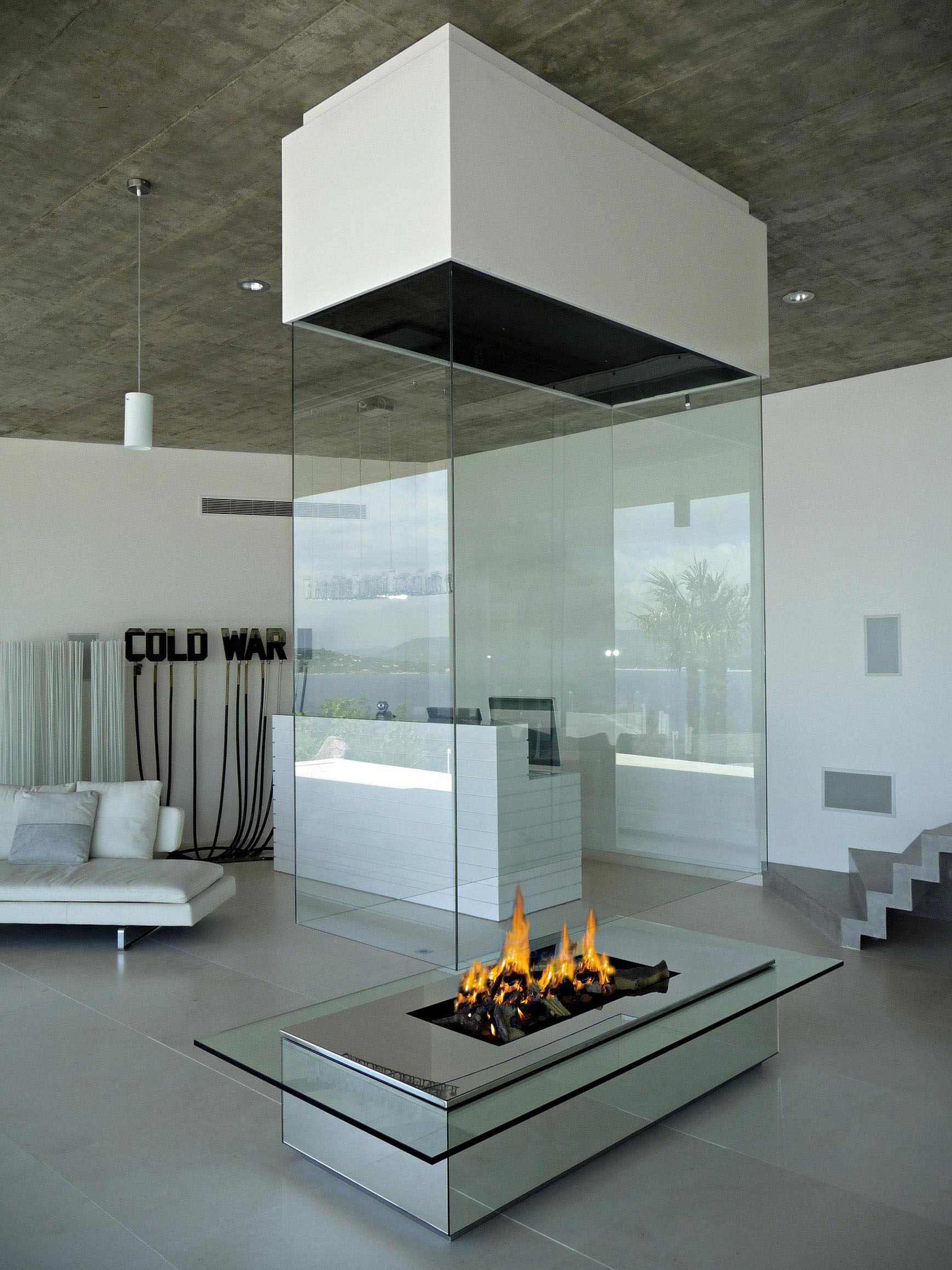 Contemporary fireplace custom fireplace modern luxury for Contemporary designs